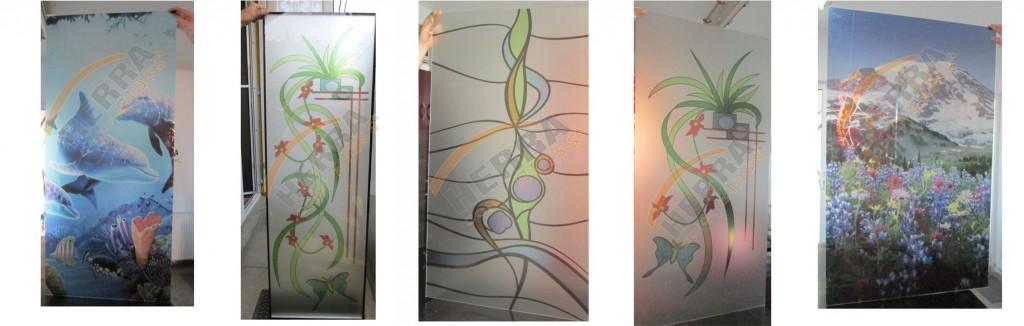 Sticla printata color