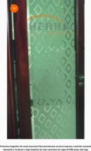 Sticla sablata float 4 mm cu model sablat simplu