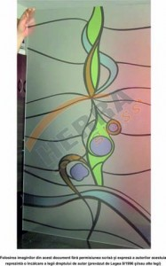 Sticla printata 4 mm cu model abstract