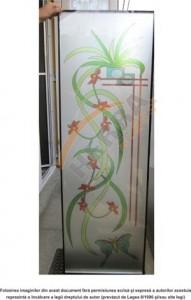 Sticla printata 4 mm cu model floral